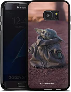 DeinDesign Coque en Silicone Compatible avec Samsung Galaxy S7 Edge Étui Silicone Coque Souple Star Wars The Child Baby Yoda