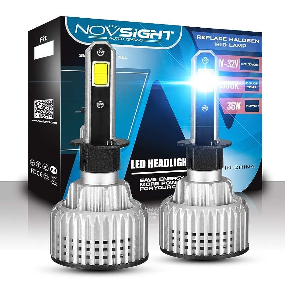釈義我慢する匿名ハロゲンおよびキセノンキット72W(2×36W)10000LM(2×5000LM)6500K、クールホワイトのH1 LEDヘッドライト電球車の交換用ライト