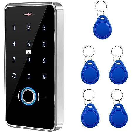 JIAN BOLAND Fingerprint Access Control System,Wiegand 26 PIN Code RFID Keypad with 5PCS IC Key Fobs,Backlight,Waterproof
