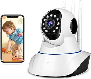 TRIXTER Cámara De Seguridad WiFi Inalámbrica 3 Antenas, IP Cámara De Vigilancia Interior Para Casa 1080P HD Visión Panorám...