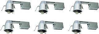"Elitco Lighting ICAT3R-GU10LED-6PK recessed-Light-Fixture 3"" ICAT REMODEL HOUSING, 120V, Socket, LED GU10 Bulb 15W MAX 6 Pack"