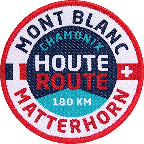 2 x Houte Route Abzeichen gewebt 67 mm/Aufnäher Aufbügler Patch Hochtour Haute-Route Ski Skitour Mont-Blanc Matterhorn Chamonix Zermatt Schweiz Wallis Piemont Tour Wanderführer