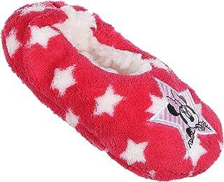 Zapatillas de interior blandas de piel sintética para niñas, diseño de Minnie Disney, color rosa oscuro del 25 al 32 (EU, ...