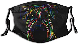 Cool Miniature Schnauzers Dog Print Cloth Face Mask Colorful for Men Women Anti-Pet Hair for Men Women Adult Outdoor Indoo...