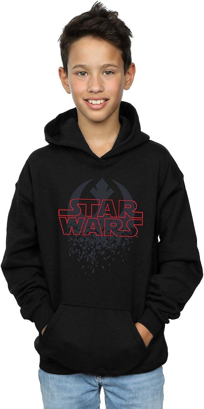 Star Wars Boys The Last Jedi Shattered Emblem Hoodie 5-6 Years Black