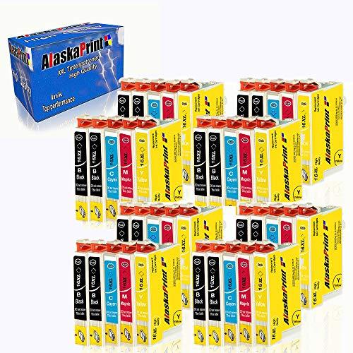 Alaskaprint 40 Druckerpatronen Kompatibel Für Epson T1631 XL 16XL 163XL für Epson Workforce WF-2760 2630 2510 2660 2540 WF2760 WF2630 WF2510 WF2660 WF2540 Tintenpatronen