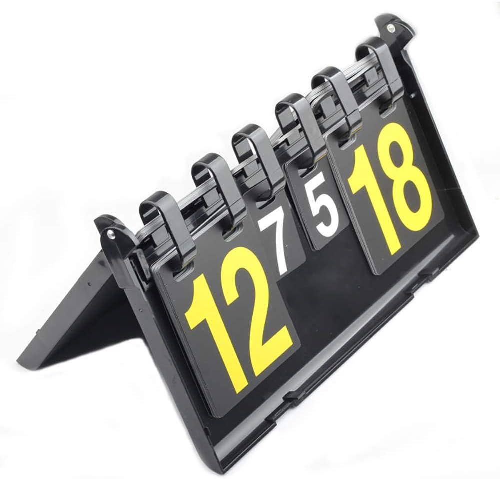 N\A Marcador Portátil Score Keeper, Multifunción Score Flipper 00 a 99 para Fútbol, Baloncesto, Tenis, Ping-Pong, Juegos De Competición De Bádminton