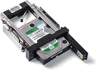 ORICO 5.25インチベイ CD-ROM 内蔵専用 HDDケース 3.5インチ SATA HDD対応 ハードディスクケース ツール不要 簡単着脱 デスクトップPC用 ドライブケース HDD変換ブラケット 電源スイッチ付 ブラック 1106S...