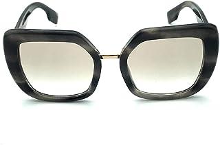 نظارات شمسية بربري BE4315 387511 نظارة شمسية نسائية لون رمادي عدسة رمادية مقاس 53 ملم