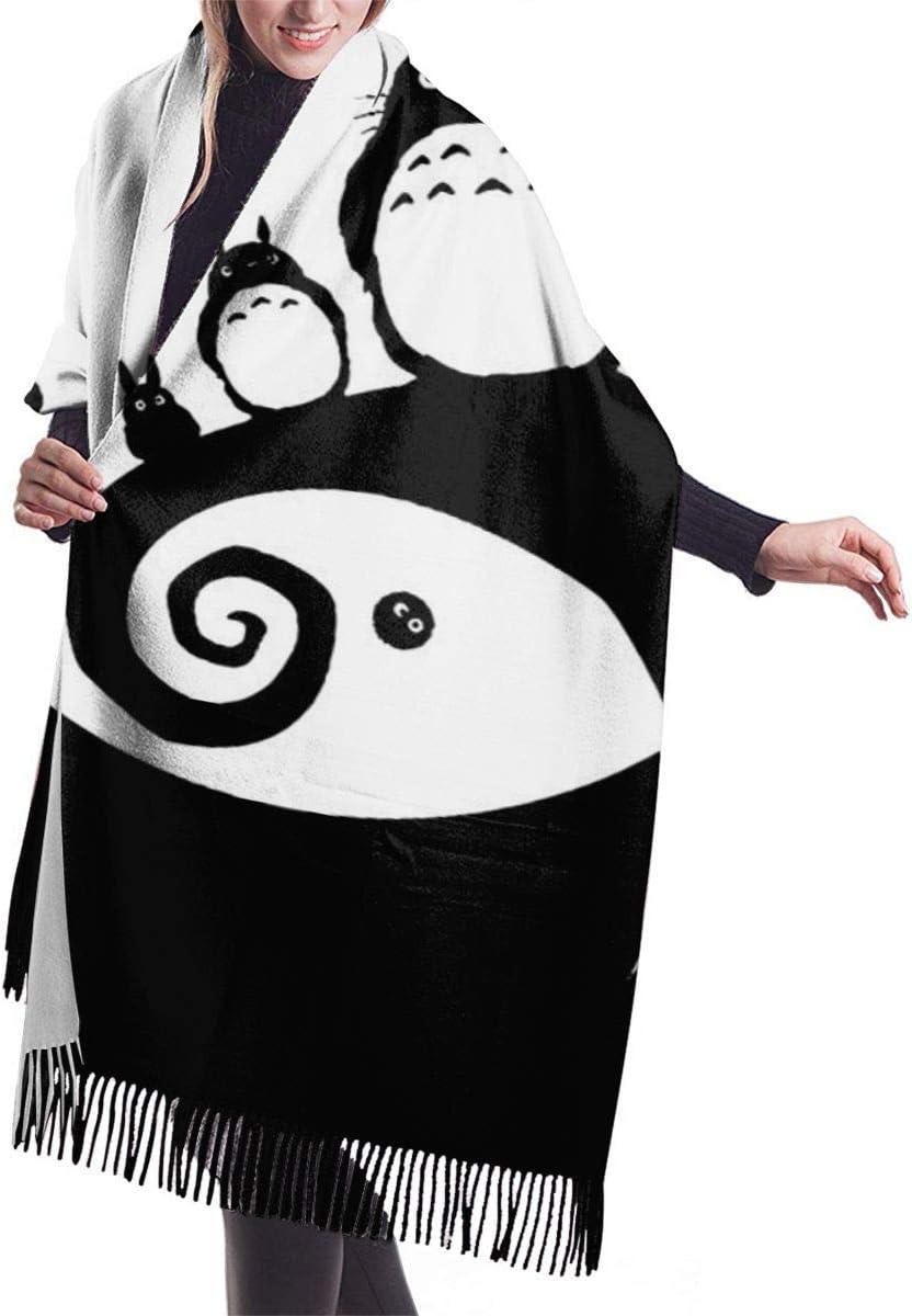 JKLGDFZA My Neighbor Totoro Fashion Cashmere Scarf Men Shawl