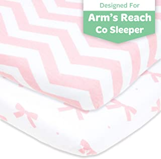 BabyPrem Baby Pack of 2 Fitted Cotton Travel Cot Sheets 37.5 x 25.5