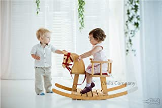 Baby Rocking Horse - Wander Herald - Ride on wooden horse - Classic English Rocking Horse - Royal Toy - Best Gift for Baby