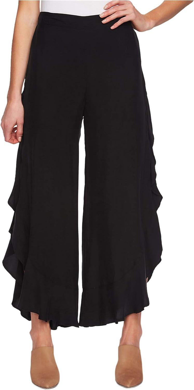 1.STATE Womens Ruffled Casual Wide Leg Pants