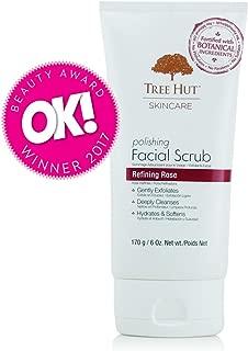 Tree Hut Skincare Polishing Facial Scrub, Refining Rose, 6 Ounce