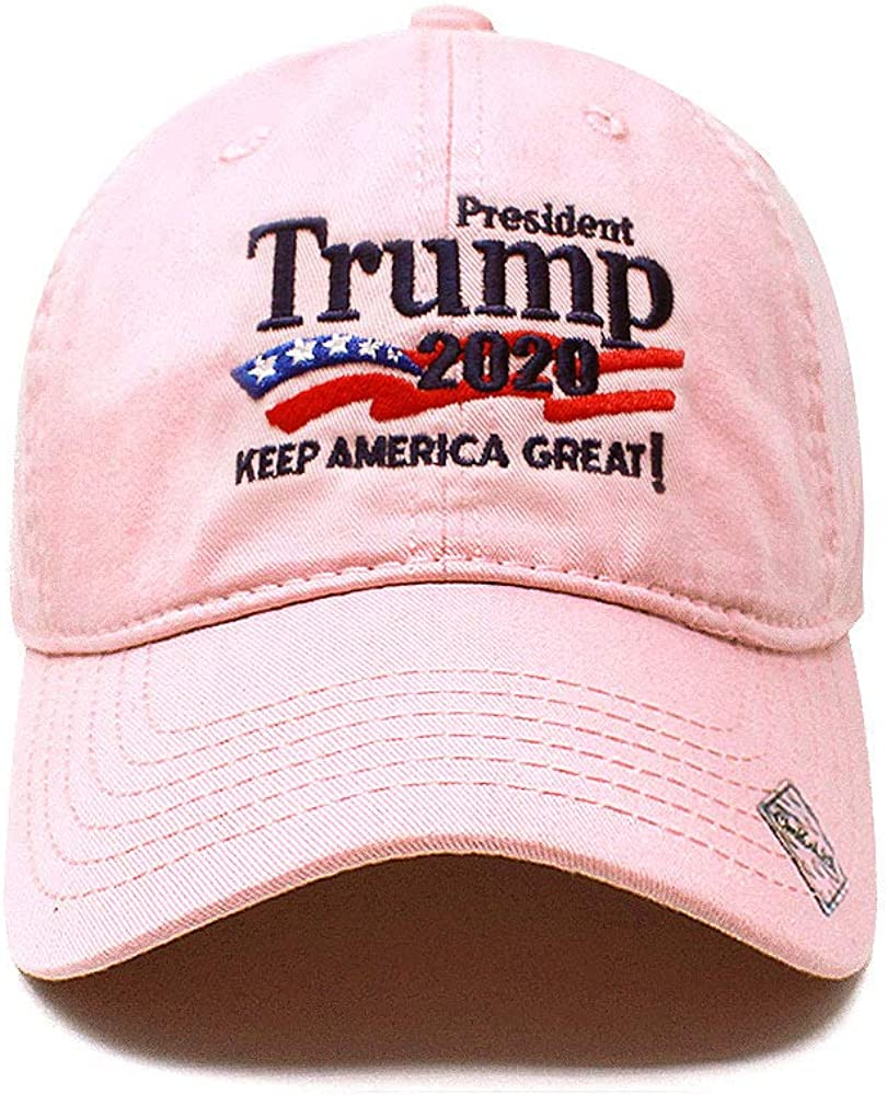 Trump 2020 Keep America Great Campaign Embroidered US Hat Baseball Cotton Cap