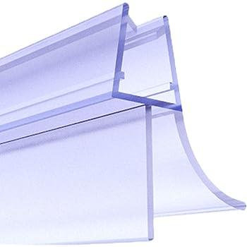 Silikon Wasserabweiser Silikondichtung Dusche Dichtprofil Duschabtrennung Schwallschutz Glast/ürdichtung Duschkabine Glasduschen Duschdichtung Duschkabinen Dichtung 900cm SDD01 WEISS