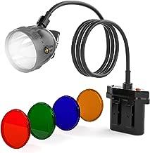 Kohree 80000LUX CREE 10W XML U2 LED Hunting Explosion Proof Mining Camping Light KL11LM Mining Headlamp Headlight-with 4 Optical Filters
