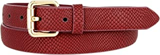 Skinny Women's Snakeskin Embossed Leather Casual Dress Fashion Belt 1