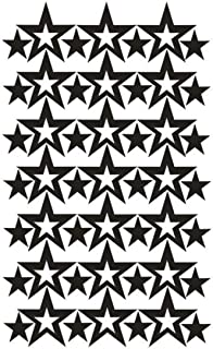 49Pcs 3-6Cm Hollow Stars Wall Sticker for Kids Baby Nursery Rooms Wall Decals Home Decor Star Wallpaper Black