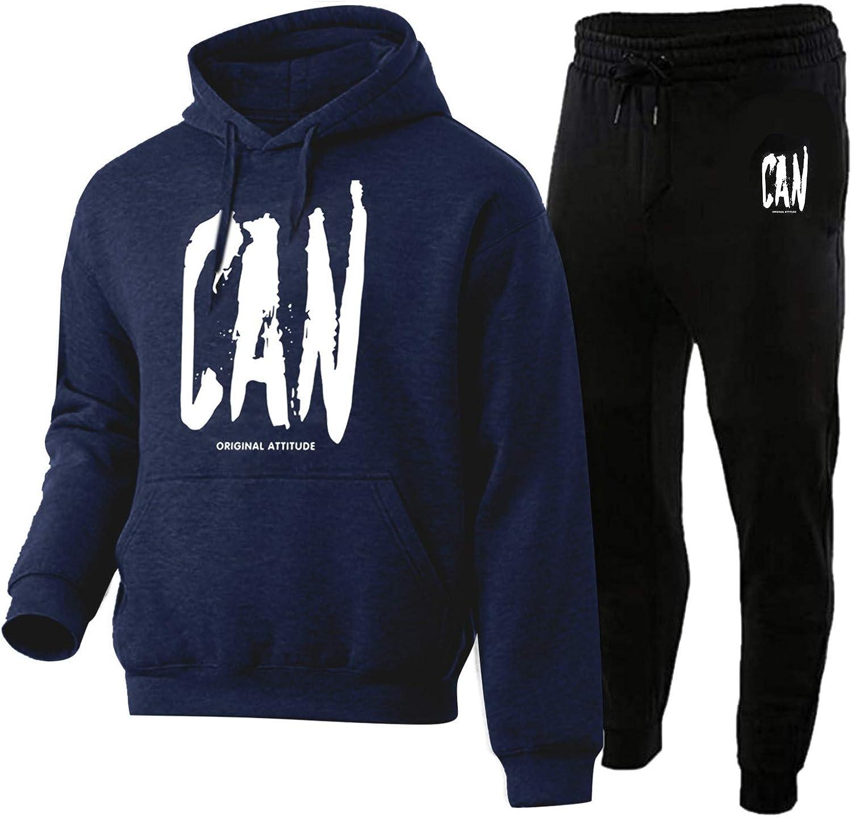 BEUU Award Men's Fashion Sweatsuits Max 74% OFF Paw Hoodies Print Jog Sweatshirts