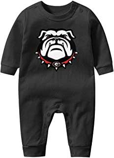 AKDJDS Funny French Bulldog Puppies Baby Boys Girls Long Sleeve Baby Onesie Organic Cute Baby Clothes