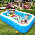 """efubaby Inflatable Pool, 95"""" X 56"""" X 22"""" Kid Pools Inflatable Swimming Pools Toddler Pool Blow up Pools Family Pool for Baby, Kiddie, Adult Ages 3+ Outdoor Garden Backyard Ground Party Swim Center"""