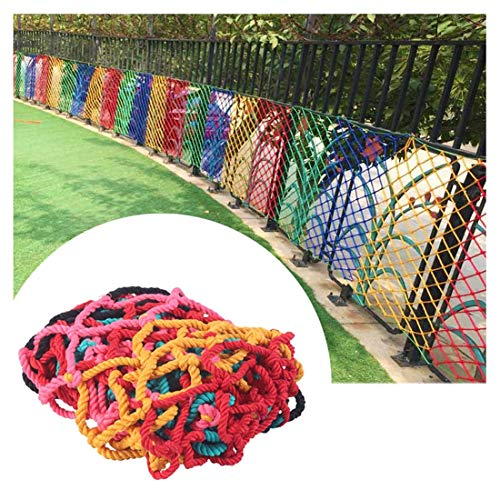 SS WANGZI Safety Net Balcony Protection Patio Netting for Climbing Plants/Windows Nylon Netting Heavy Duty Soccer Nets for Boys Colorful 6mm/5cm*4x6m/13.1x20ft Protective Safety Rope Net Decor Mesh
