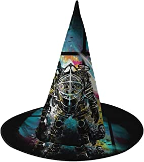 Bioshock Mr Bubbles Big Daddy Witch Hat Halloween Unisex Costume For Holiday Halloween Christmas Carnivals Party