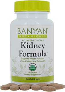 Banyan Botanicals Kidney Formula - USDA Certified Organic, 90 Tablets - Herbal Supplement to Support Kidney & Adrenal Func...