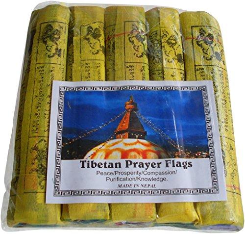 Fairtrade Nepalesische/Tibetanische buddhistische Gebetsfahnen Baumwolle Gebet Flaggen –, 5Stück 25String 22cm x 16cm