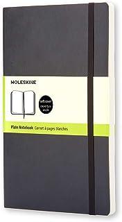 Moleskine Classic Soft Cover Notebook - Plain - Pocket - Black, (QP613)
