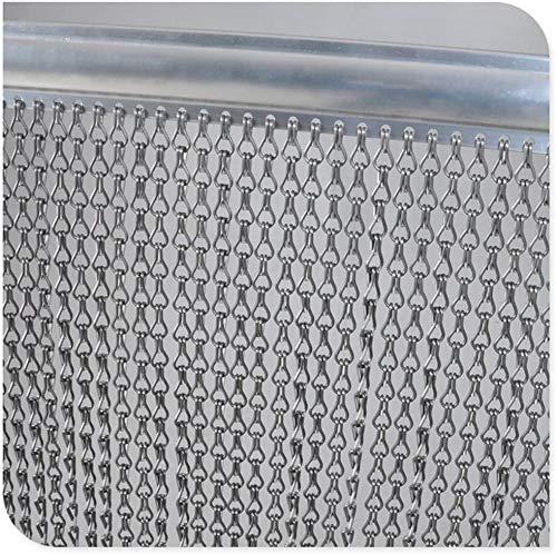 GENI Moustiquaire 90 cm x 200 cm en aluminium de qualité supérieure pour portes - Rideau à chaîne contre les insectes, les mouches, les guêpes - Moustiquaire intérieure et extérieure
