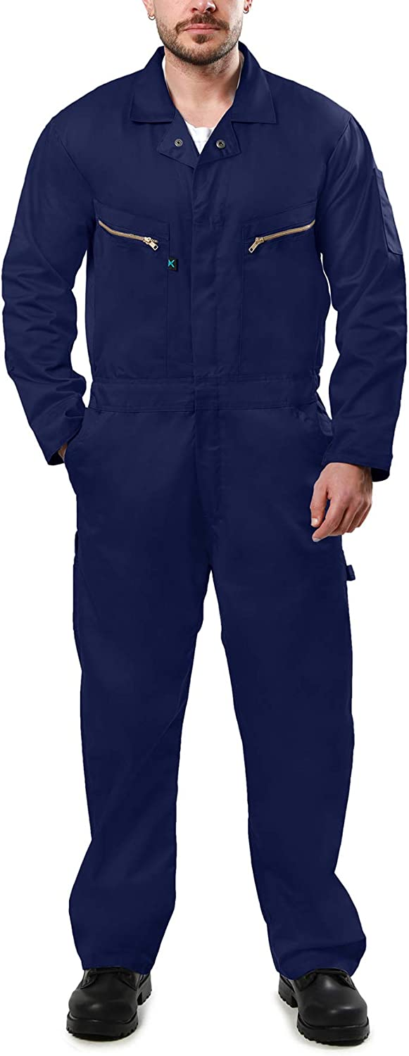 Kolossus Pro-Utility Cotton Memphis Mall Many popular brands Blend Long Coverall with Sleeve Zipp