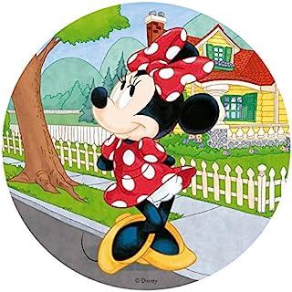 Dekora - 114371 Disney Minnie Mouse taartoplegger gemaakt van eetpapier|gemaakt van rijstpapier | - 20 cm