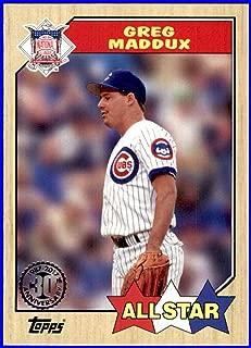 2017 Topps '87 1987#87176 Greg Maddux HOF CHICAGO CUBS Baseball Card