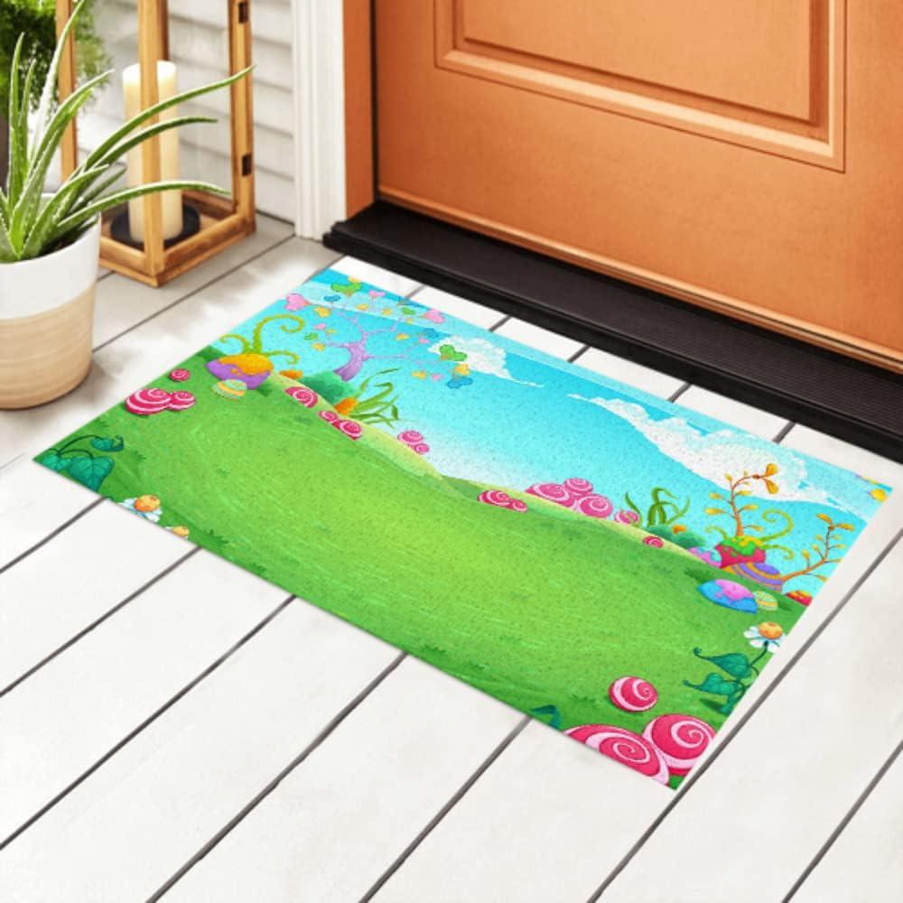 Classic JIUCHUAN Indoor Under blast sales Doormat Landscape Elements Natural with Fantasy