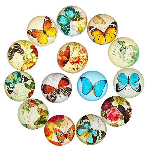 16pcs Butterfly Refrigerator Magnets Beautiful Fridge Photo Decorative Glass Popular Funny Office Cabinets Whiteboards Best Housewarming Gift (Butterfly)