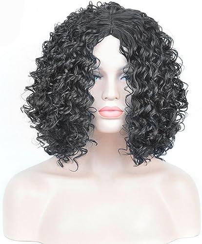 XY-QXZB Europa und die Vereinigten Staaten afrikanischen Schwarzn explosiven Kopf Perücke lange lockige Haare Faser-Sets
