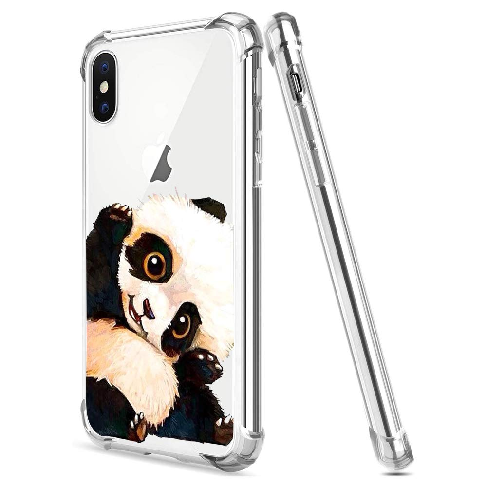 Clear Shock Absorption TPU Compatible with iPhone 11 Pro Max,Silicone Rubber Back Flexible Soft Thin Utra Slim Crystal Transparent TPU Flower Animal Cartoon Gel Bumper Elastic Protective