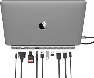 LENTION USB C Docking Station with 100W PD, 4K HDMI/DisplayPort, VGA, Ethernet, Card Reader, USB 3.0/2.0, Aux Adapter Comp...