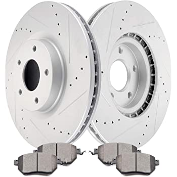 Front Drilled Slotted Brake Rotors /& Ceramic Pads For 2011-2017 Nissan Quest