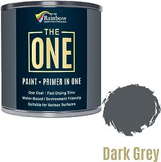 Peinture One Paint multi-surfaces pour bois, métal, plastique, intérieur, extérieur, gris foncé, satiné, 250 ml