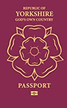 Republic of Yorkshire Passport: God's own country notebook journal - perfect for travel notebook or gift.