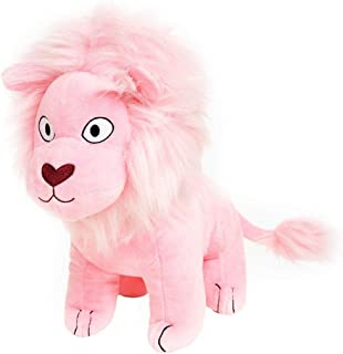 "STEVEN UNIVERSE SDCC 2017 Exclusive 12"" Jumbo Pink Lion Plushie with Sticker"