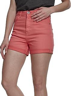 Urban Classics Women's High-Waist Shorts - Stretch Twill Hot Pants