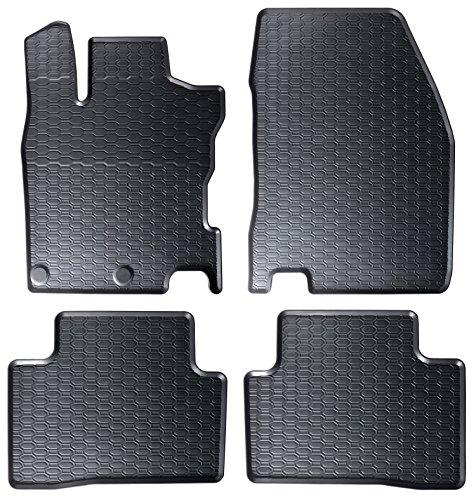 DAPA 1104004-1 Auto-Gummimatten in schwarz und Wabendesign, Geruch-vermindert und passgenau mit verbauten Befestigungen