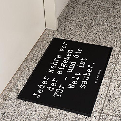 """Fußmatte – Goethe Zitat """"Jeder kehre vor der eigenen Tür """" - 4"""