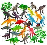 Auihiay - Juego de 26 Mini Figuras de Dinosaurio de plástico para educación Infantil, Paquetes de Fiesta, Regalos de Fiesta, Adornos para Tartas