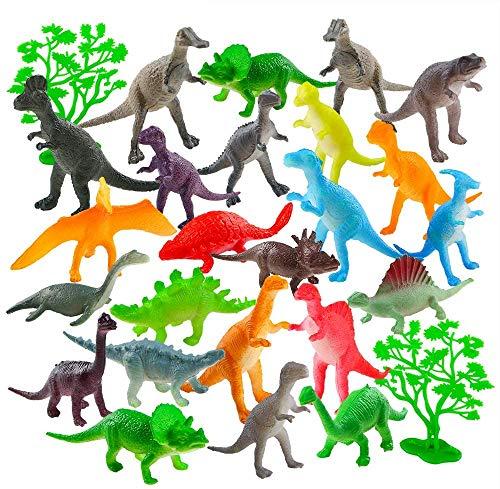 Auihiay 26 Pack Mini Plastik Dinosaurier Figuren Set für Kinder Bildung, Party Packs, Party Gefälligkeiten, Cake Toppers