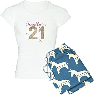 CafePress - Finally 21 Birthday 21St Birthday Women s Light Pa - Womens  Novelty Cotton Pajama Set abea1b4a5